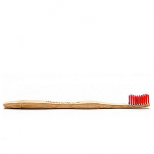 Humble Brush - Humble Brush Doğal Yumuşak Yetişkin Diş Fırçası - Kırmızı