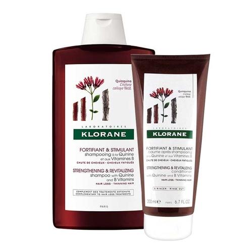 Klorane - Klorane Saç Dökülmesine Karşı Güçlendirici İkili Bakım Seti