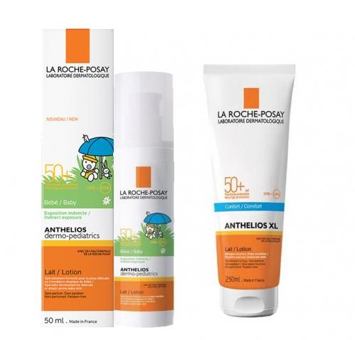 La Roche Posay Ürünleri - La Roche Posay Anthelios SPF 50+ Baby Milk 50ml + XL Spf50 Güneş Sütü 250ml