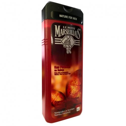 Le Petit Marseillais - Le Petit Marseillais For Men Kan Portakalı ve Safran Duş Jeli ve Şampuan 400ml