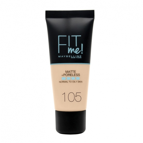 Maybelline - Maybelline Fit Me Matte+Poreless 105 Natural Ivory 30 ml
