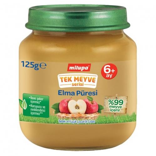 Nutricia - Milupa Tek Meyve Serisi Elma Püresi 125 gr | +6 Ay
