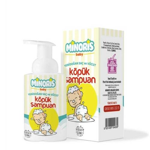 Minoris - Minoris Yenidoğan Saç ve Vücut Köpük Şampuan 300 ml