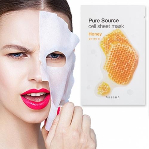 Missha - Missha Pure Source Cell Sheet Mask (Honey) 21g