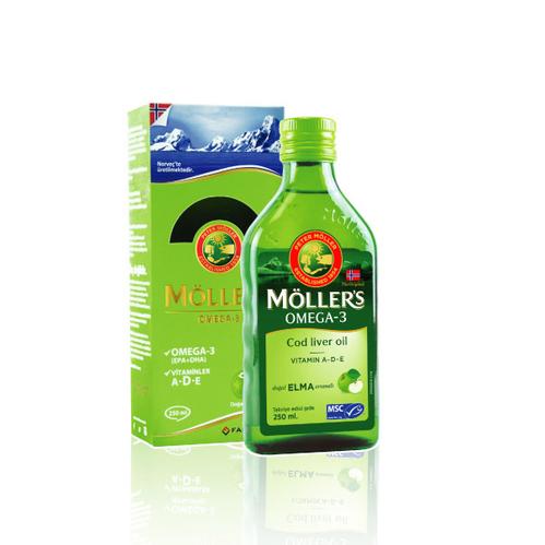 Möllers - Möllers Omega-3 - Balık Yağı Sıvı Formu 250 ml - Elmalı