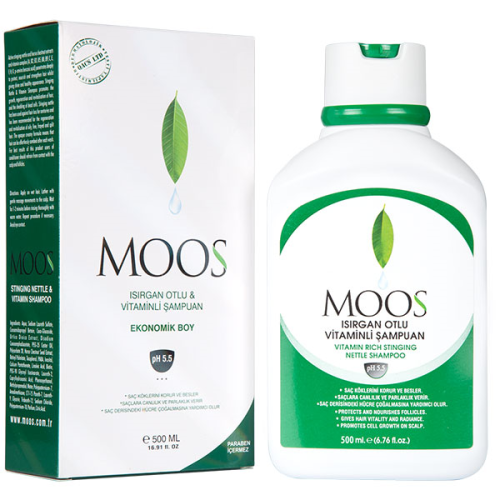 Moos - Moos Isırgan Otlu Saç Dökülmesine Karşıtı Ekonomik Şampuan 500ml