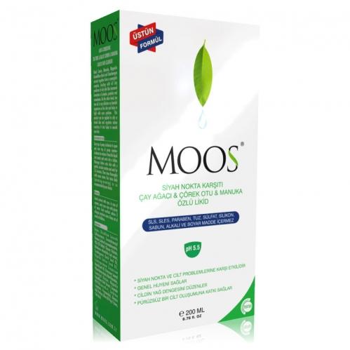 Moos - Moos Likid Siyah Nokta Karşıtı Çay Ağacı ve Çörek Otu 200 ml