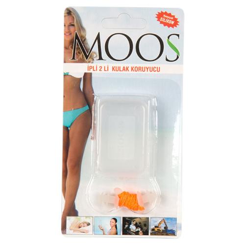 Moos - Moos İpli Silikon Kulak Tıkacı 2'li