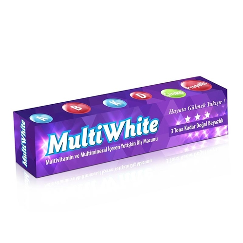 Multi White - Multi White Multivitamin ve Multimineral İçeren Yetişkin Diş Macunu 75 ml