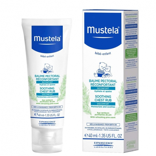 Mustela Ürünleri - Mustela Sooting Chest Rub (Yatıştırıcı Göğüs Balsamı) 40ml.
