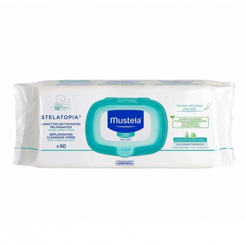 Mustela - Mustela Stelatopia Replenishing Cleansing Wipes 50 Adet