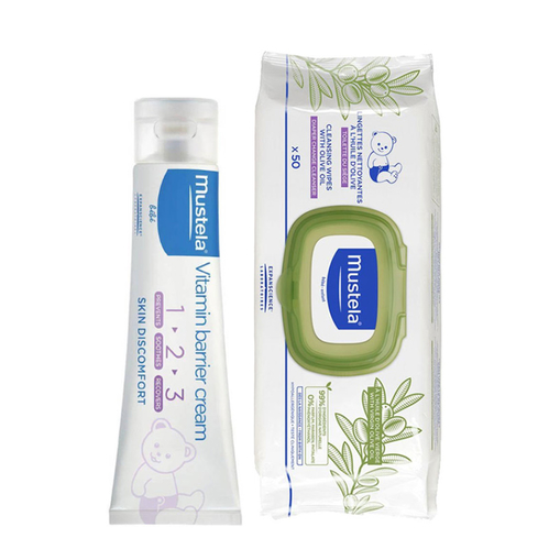 Mustela - Mustela Vitamin Barrier 1-2-3 Cream 100 ml Islak Mendil Hediyeli