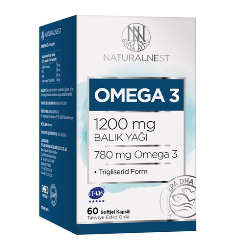 Naturalnest - Naturalnest Omega 3 1200 Mg 60 Kapsül