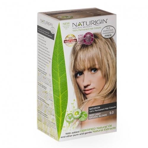 Naturigin - Naturigin Organik İçerikli Saç Boyası 9.0 Çok Yumuşak Doğal Sarı