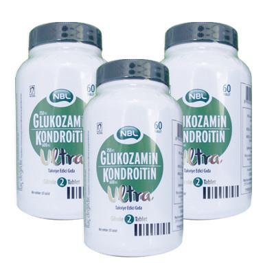 NBL - NBL Glukozamin Kondroitin Ultra Takviye Edici Gıda 3 x 60 Tablet