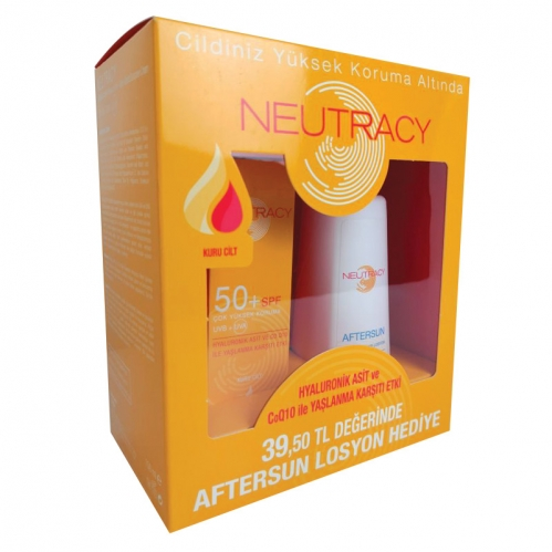 Neutracy - Neutracy Kuru Cilter İçin SPF50 Su Bazlı Güneş Kremi 70ml + After Sun Losyon 150ml HEDİYE
