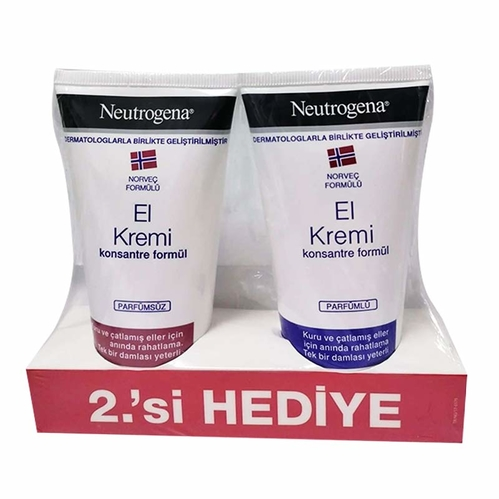Neutrogena - Neutrogena Parfümsüz El Kremi 75 ml - Parfümlü El Kremi 75 ml HEDİYE