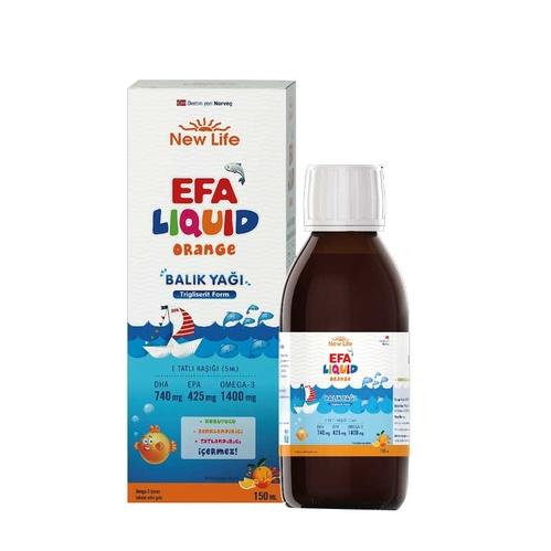 New Life - New Life Efa Liquid Balık Yağı Sıvı 150 ml - Portakal