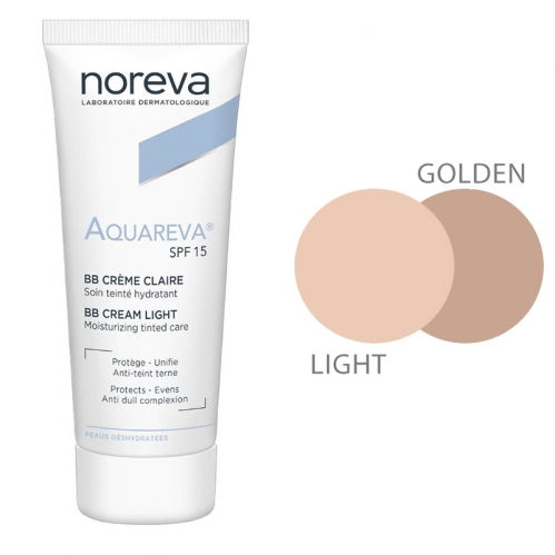 Noreva - Noreva Aquareva SPF 15 BB Krem 40 ml Light
