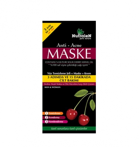 Nutralen - Nutralen Anti Acne Yüz Temizleme Jeli + Maske + Krem