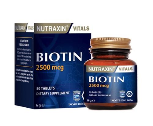 Nutraxin - Nutraxin Biotin 2500mcg 50 Tablet