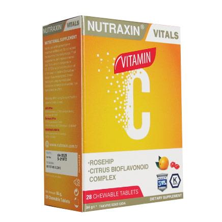 Nutraxin - Nutraxin C Vitamini 28 Çiğnenebilir Tablet