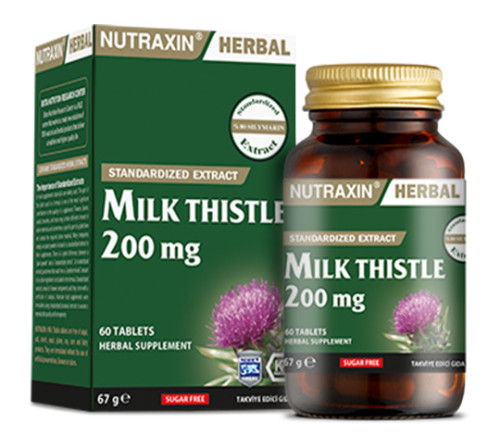 Nutraxin - Nutraxin Herbal Milk Thistle 200mg 60 Kapsül
