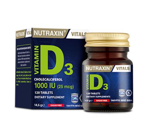 Nutraxin - Nutraxin Vitamin D3 120 Tablet