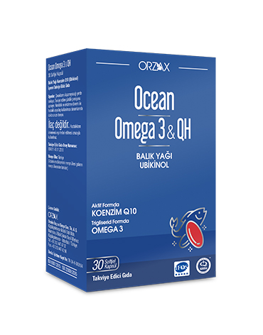 Orzax - Orzax Ocean Omega 3 & QH Takviye Edici Gıda 30 Kapsül