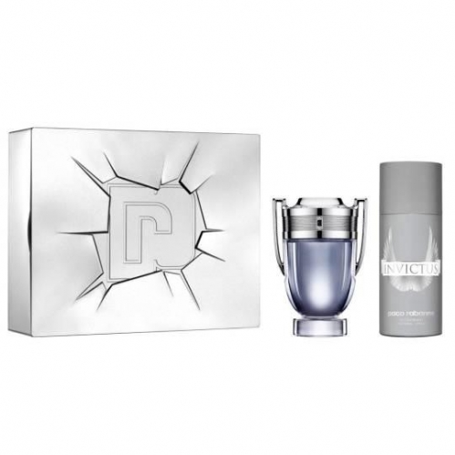 Paco Rabanne - Paco Rabanne Invictus EDT 100 ml Erkek Parfüm Seti