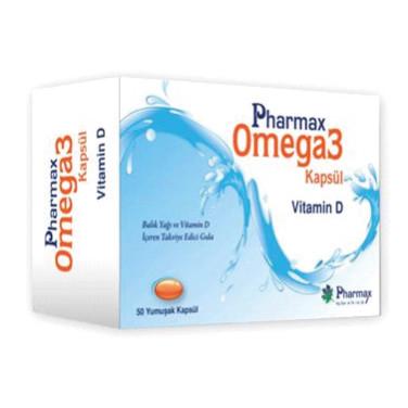 Pharmax - Pharmax Omega3+Vitamin D 50 Kapsül