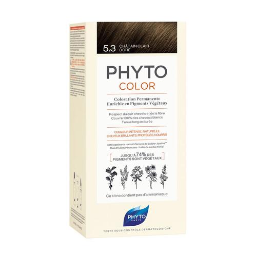 Phyto Saç Bakım - Phyto Phytocolor Bitkisel Saç Boyası - 5.3 - Açık Kestane Dore