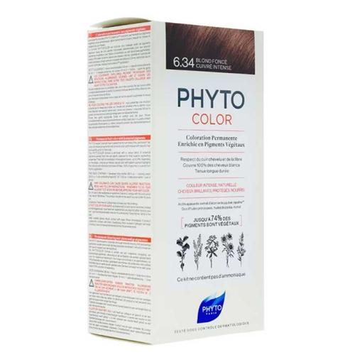 Phyto Phytocolor Bitkisel Saç Boyası 6.34 - Koyu Kumral Dore Bakır Yeni Formül