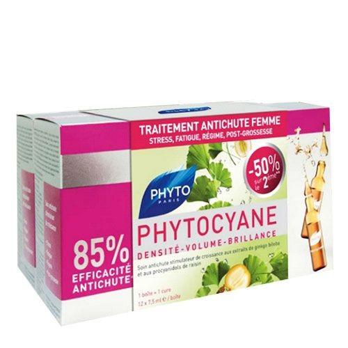 Phyto Saç Bakım - Phyto Phytocyane Densifying Treatment Serum 12x7,5ml / 2.si %50 İNDİRİMLİ