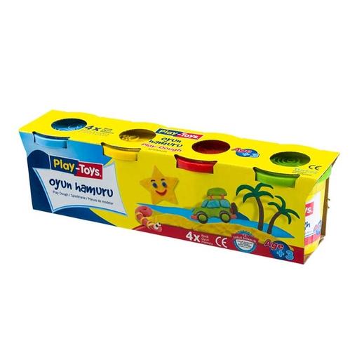 Playtoys - Playtoys Dörtlü Paket Oyun Hamuru