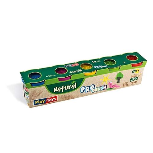 Playtoys - Playtoys Pro Dough Natural 5x100 gr.