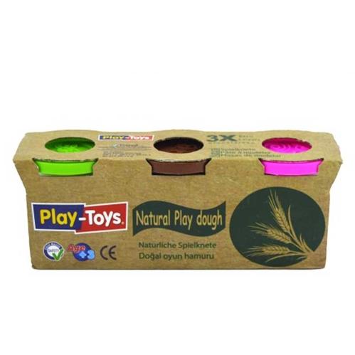 Playtoys - Playtoys Üçlü Paket Natural Oyun Hamuru