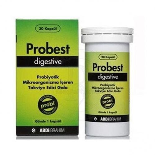 Abdi İbrahim - Probest Digestive Probiyotik Takviye Edici Gıda 20 Kapsül