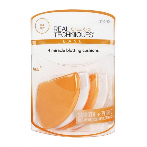 Real Techniques - Real Techniques by Sam&Nic Base 4 Miracle Blotting Cushions - 4'lü Fondöten Yastığı 1493