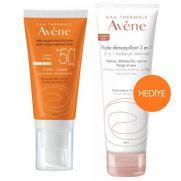 Avene - Avene Spf 50+ Cream 50ml 3in1 Make Up Remover 100ml HEDİYE
