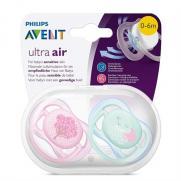 Avent - Avent Ultra Air Hava Delikli İkili Emzik 0-6 Ay