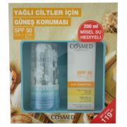 Cosmed - Cosmed Sun Essential Oily Skin SPF 50+ Krem 50 ml + Temizleme Suyu 200 ml HEDİYELİ