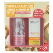 Cosmed - Cosmed Sun Essential Very Sensitive SPF50 Krem 50 ml+ Temizleme Suyu 200 ml HEDİYELİ