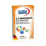 EuRho Vital - EuRho Vital A-Z Multivitamin Plus Lutein & Q10 Takviye Edici Gıda 30 Tablet