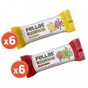 Fellas - Fellas Kids Meyve Barı - Karma Kutu 12 Adet