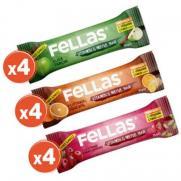 Fellas - Fellas Vitamin ve Meyve Barı - Karma Kutu 12 Adet