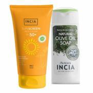 INCIA - INCIA Yüz İçin %100 Doğal Güneş Kremi 50 SPF 50 ml   El ve Vücut Sabunu 50ml HEDİYE!