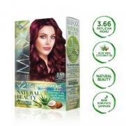 Maxx Deluxe - Maxx Deluxe Natural Beauty Saç Boyası 3.66 Patlıcan Moru