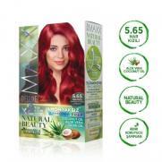Maxx Deluxe - Maxx Deluxe Natural Beauty Saç Boyası 5.65 Nar Kızılı