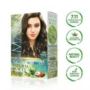 Maxx Deluxe - Maxx Deluxe Natural Beauty Saç Boyası 7.11 Yoğun Küllü Kumral